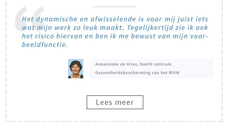 Annemieke de Vries, hoofd centrum Gezondheidsbescherming van het RIVM