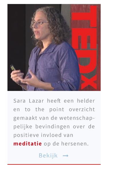 Sara Lazar heeft een helder en to the point overzicht gemaakt van de wetenschappelijke bevindingen over de positieve invloed van meditatie op de hersenen.