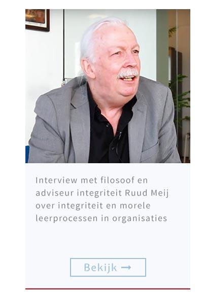 Interview met filosoof en adviseur integriteit Ruud Meij over integriteit en morele leerprocessen in organisaties