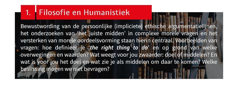 1. Filosofie en Humanistiek